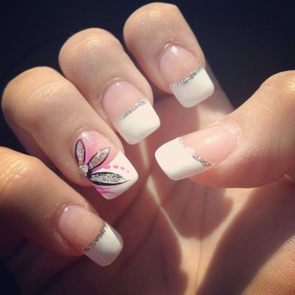 42 stunning french nails you can go crazy over orchid style french tip design f18 prinsesfo Image collections