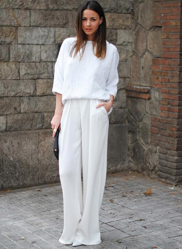 All White Formal Outfit