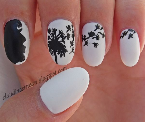 Cute Dandelion Nail Art Designs: 27 Chic Dandelion Designed Nail Art That Can Add Appeal To