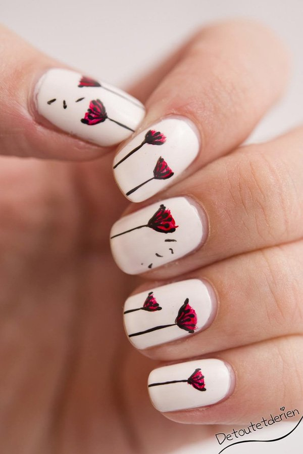 27 chic dandelion designed nail art that can add appeal to your look dandelion nail art 25 prinsesfo Choice Image