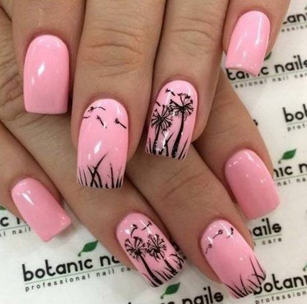 27 Chic Dandelion Designed Nail Art That Can Add Appeal To Your Look.