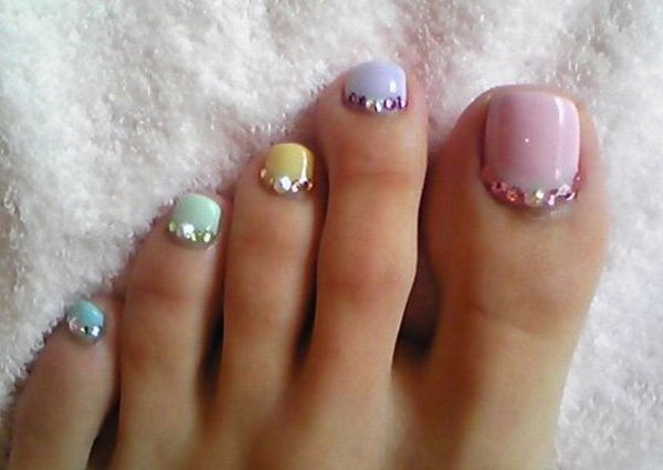 Having Colorful Toe Nail Art Can Easily Go Along With Every Outfit In Your Wardrobe Adding Different Matte Colors For Base Of Toenail