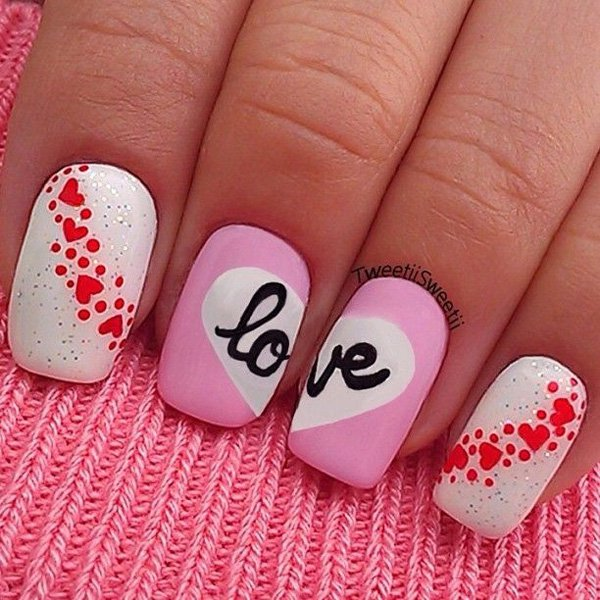 30 incredible valentines day special nail art that will enhance your eye catching nail art valentines day nail art 7 solutioingenieria Choice Image