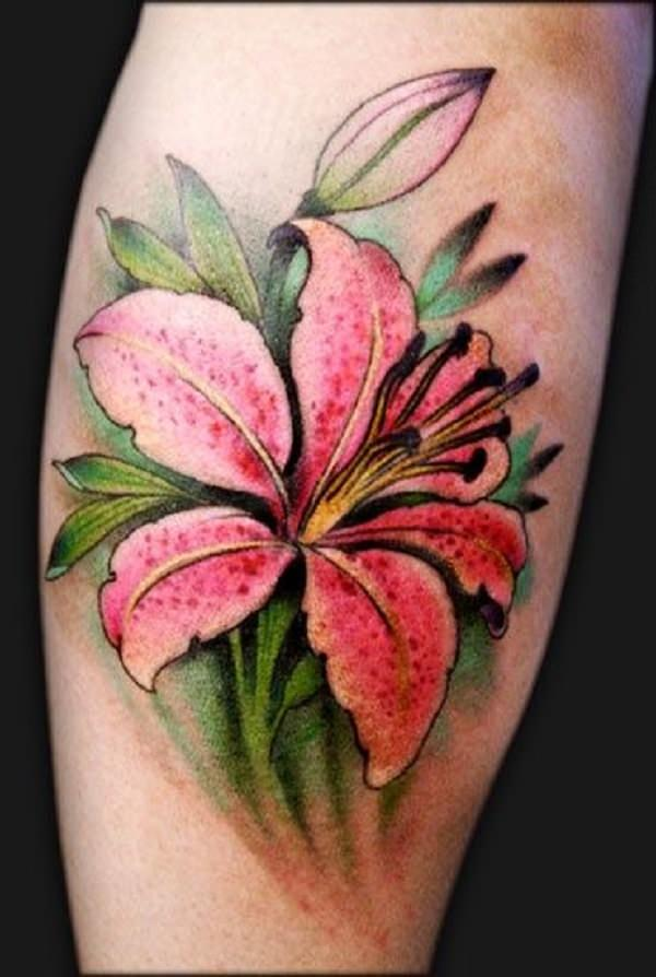 Lily Flower Tattoo Design: Awesome Lily Tattoo That You Can't Even Refuse To Have