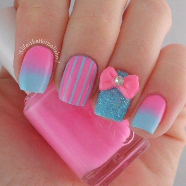 Fascinating Pink Nail Art Design Which Will Dazzle You For