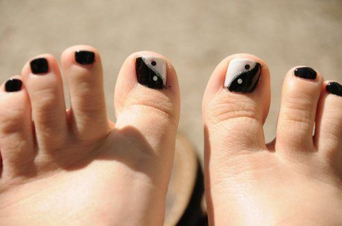 Fabulous White And Black Nail Art Designs That Will Charm Your