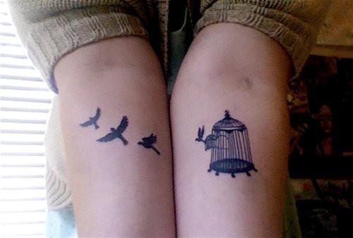 Nice-Bird-and-Birdcage-Tattoos