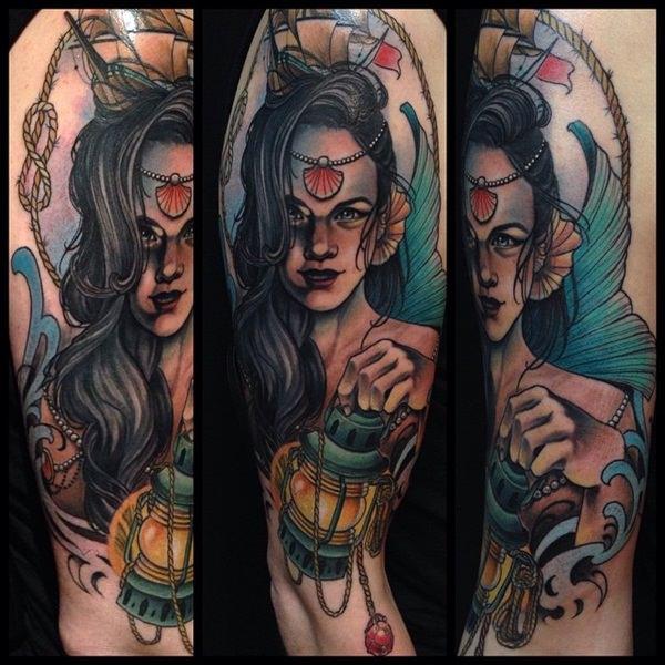 mermaid tattoo 4