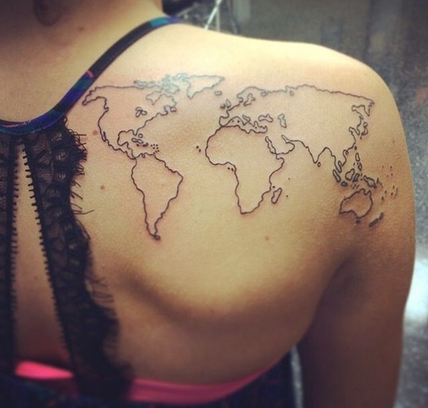 Amazing-Map-Tattoo-On-Back-Shoulder-For-Girls-2