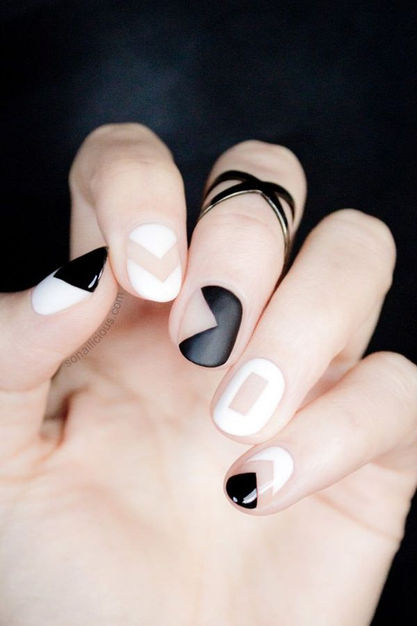 black-and-white-nail-designs
